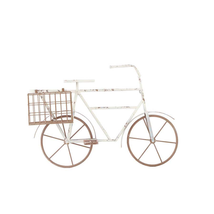 Metal Bicycle Wall Hanger w/ 2 Wire Baskets - E.T. Tobey Company