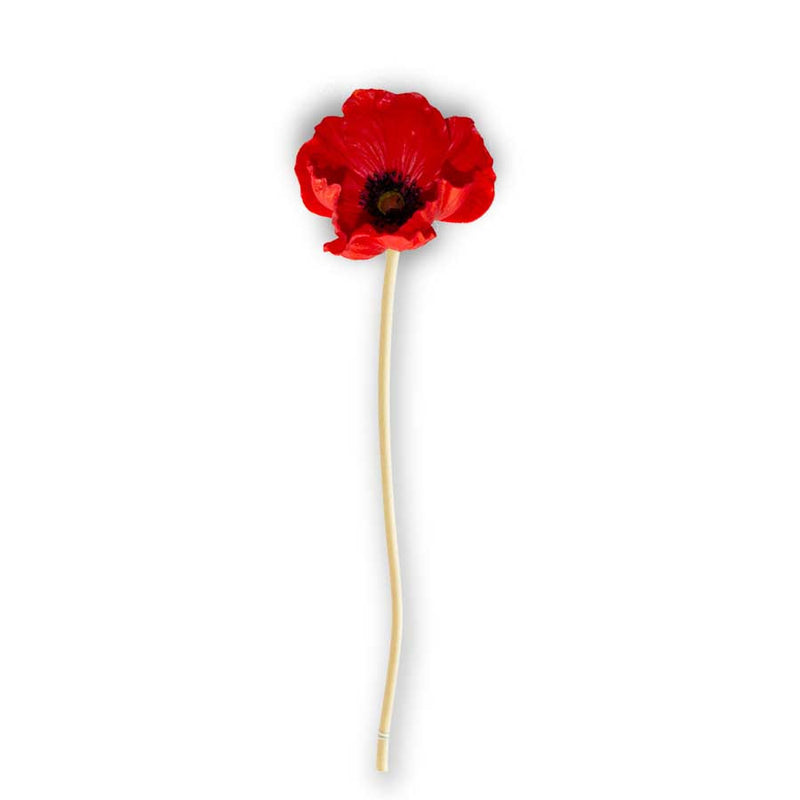 Real Touch Mini Poppy Stem - E.T. Tobey Company