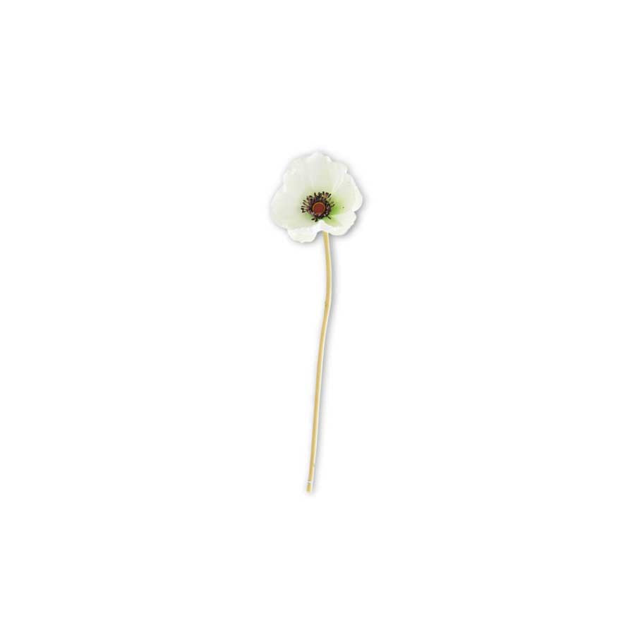 Real Touch Mini Poppy Stem white - E.T. Tobey Company