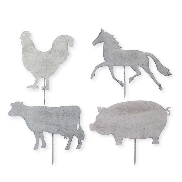 Metal Farm Animal Yard Stakes