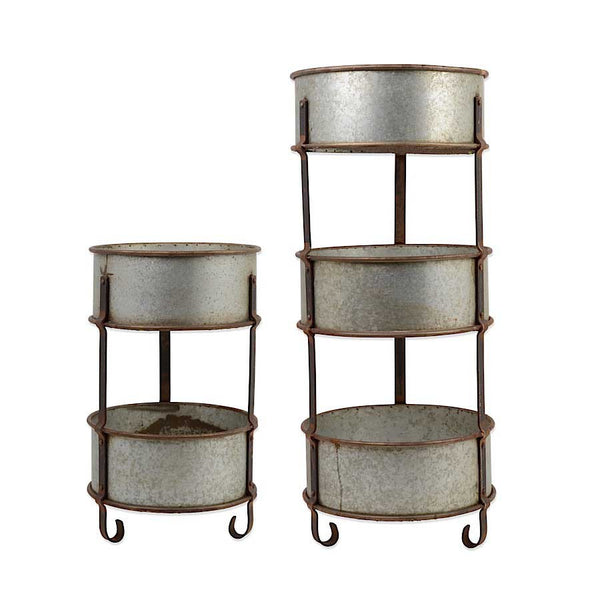 Metal 3 Tiered Round Stands - E.T. Tobey Company