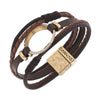 5 Row Leather Cord Bracelet - E.T. Tobey Company