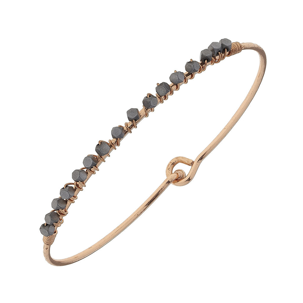 Wire Beaded Puffed Bangle - E.T. Tobey Company