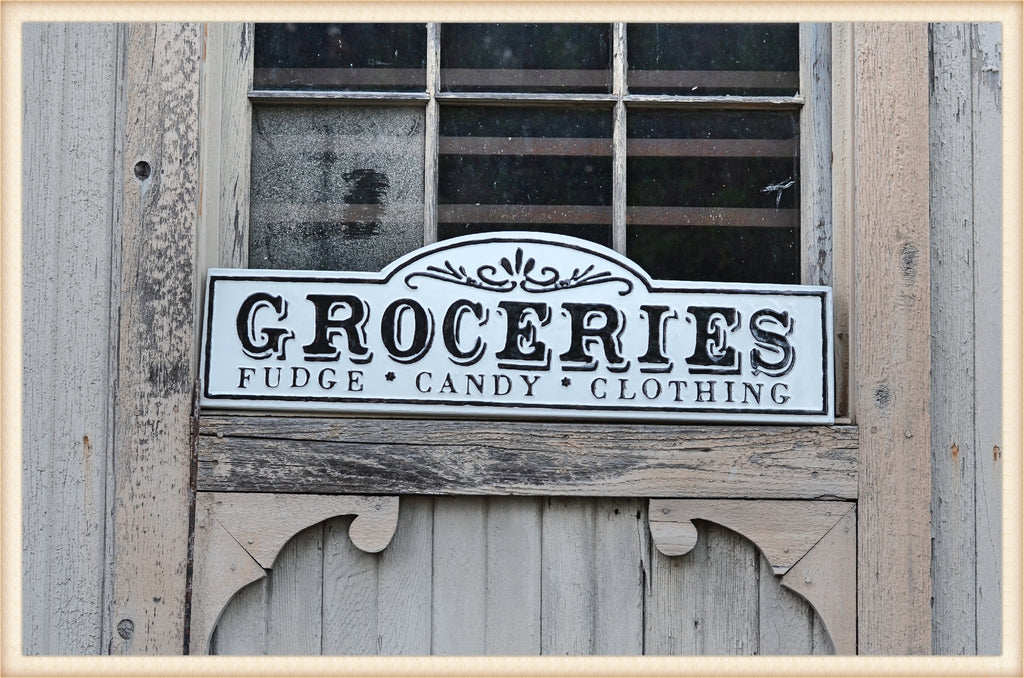 Groceries Gloss Sign