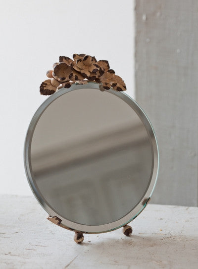 Large Floral Top Mirror - E.T. Tobey Company