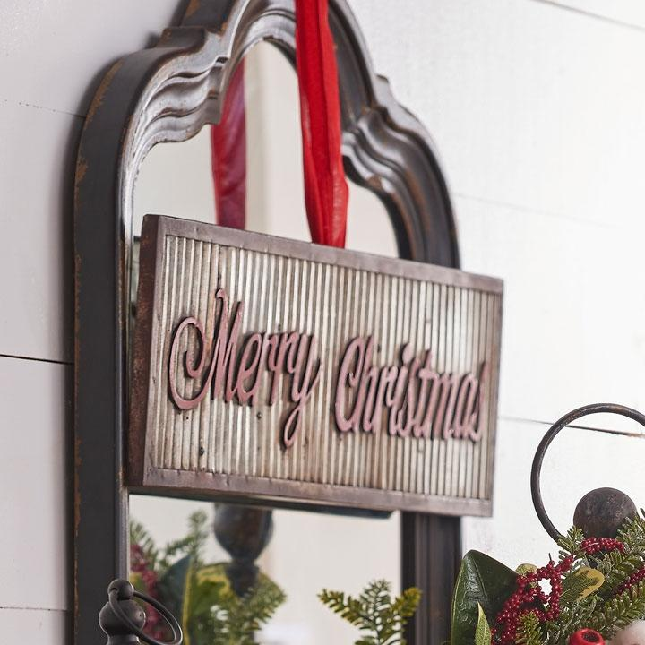 Metal Merry Christmas Wall Sign