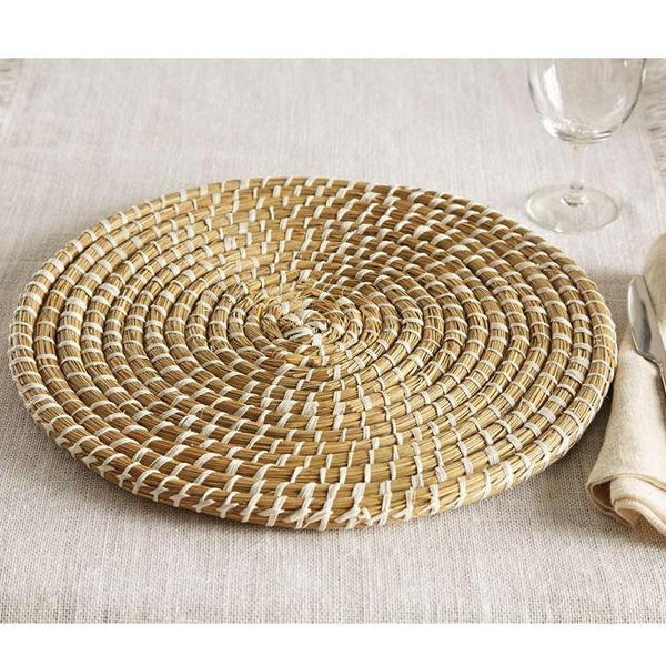 seagrass charger - mudpie decor