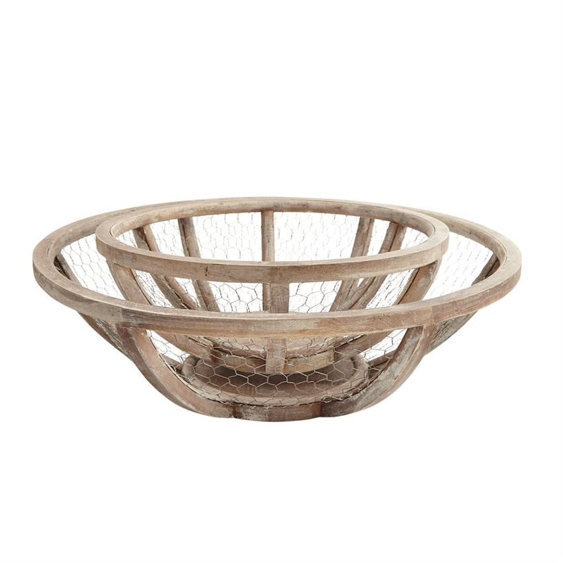 Wire & Wood Bowls