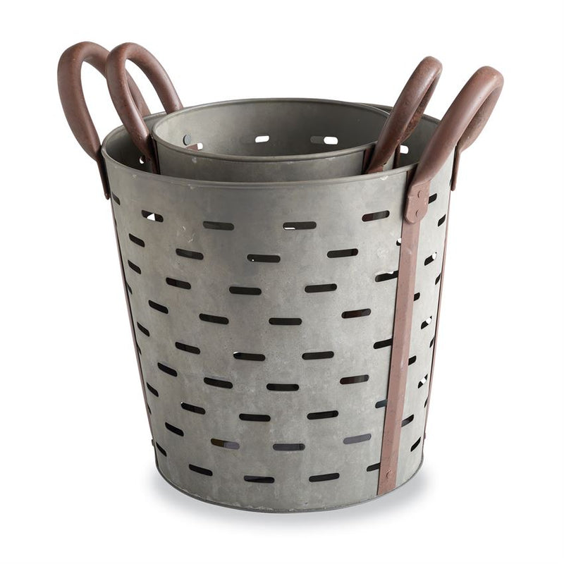 Perforated Tin Basket