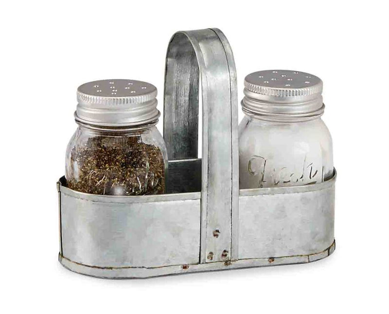 Fresh Jar Salt & Pepper Caddy Set - e.t. tobey company - farmhouse style - fixer upper