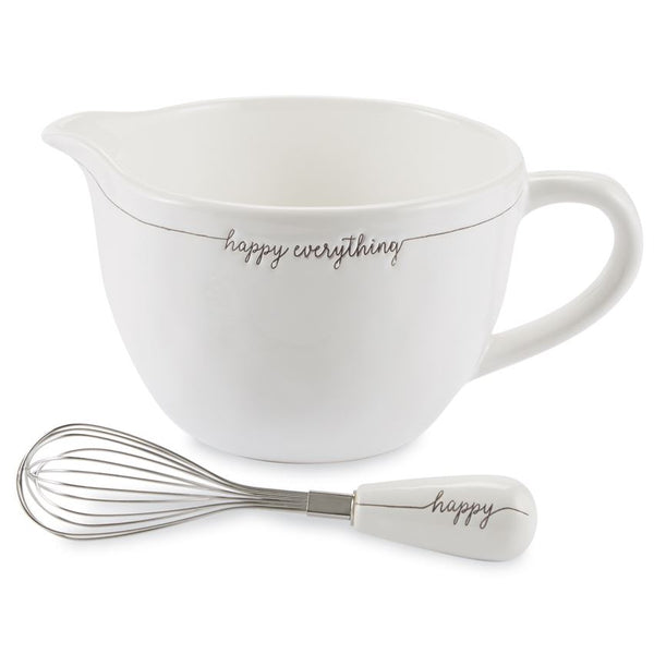 Happy Everything Ceramic Mixing Bowl Set - e.t. tobey company