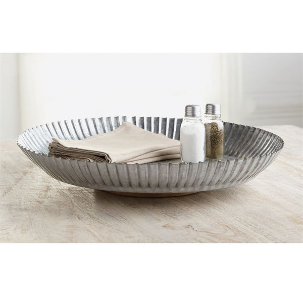 Galvanized Tin Lazy Susan