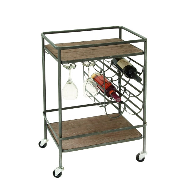 Metal Wine Rack Bar Cart - E.T. Tobey Company