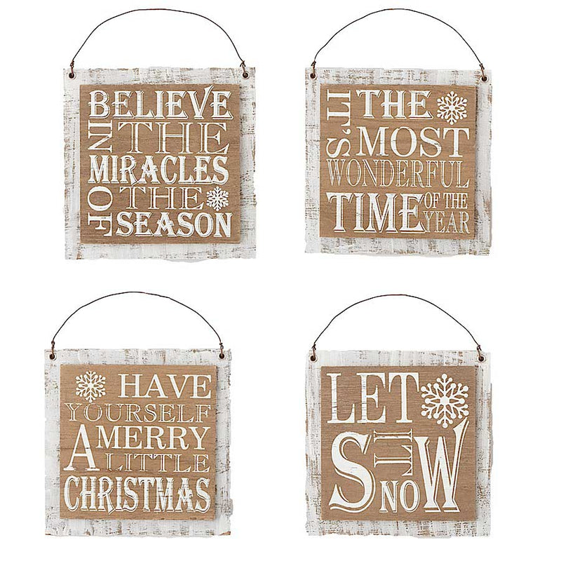 Square Message Ornaments