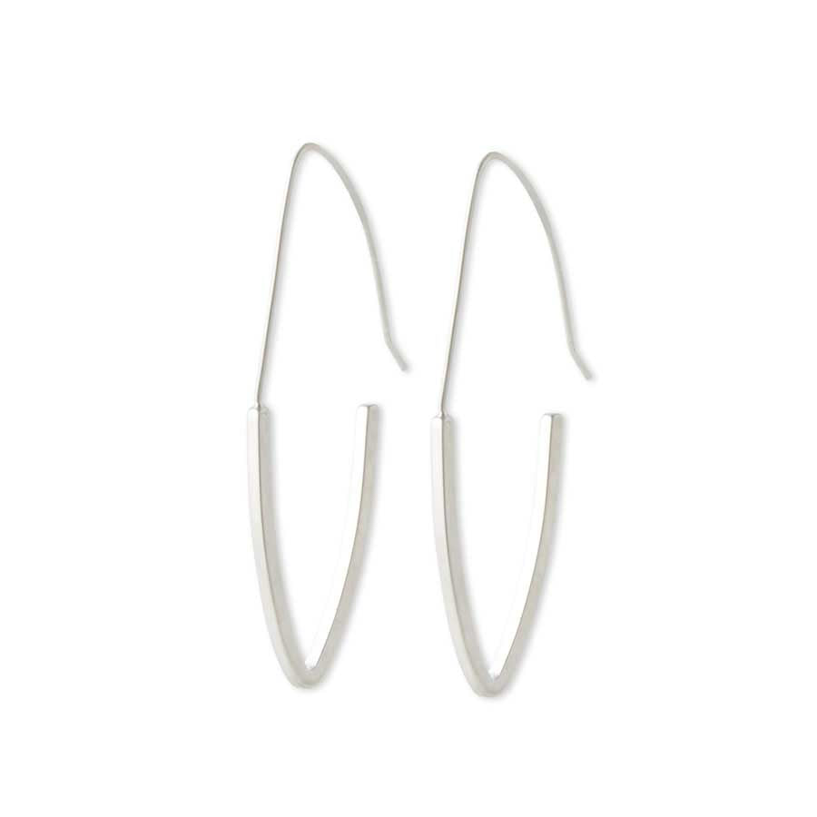 Matte Elongated Hoop Earrings