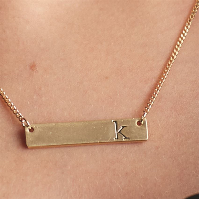 Chelsea Initial Bar Necklace - E.T. Tobey Company