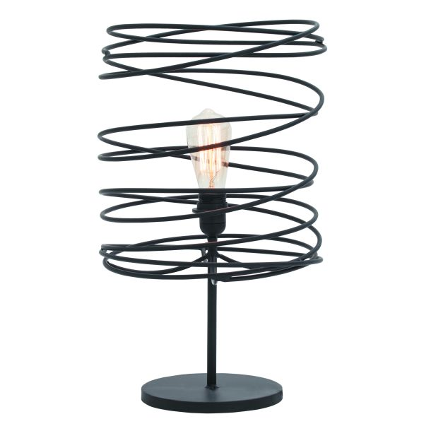 Black Wire Table Lamp - Industrial farmhouse