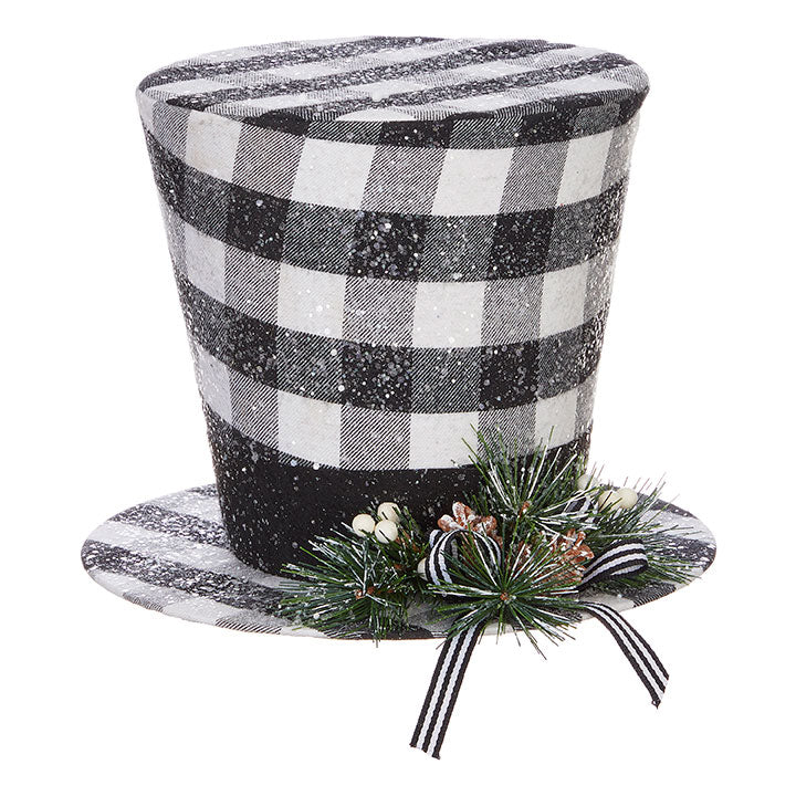 Buffalo Check Top Hat Tree Topper