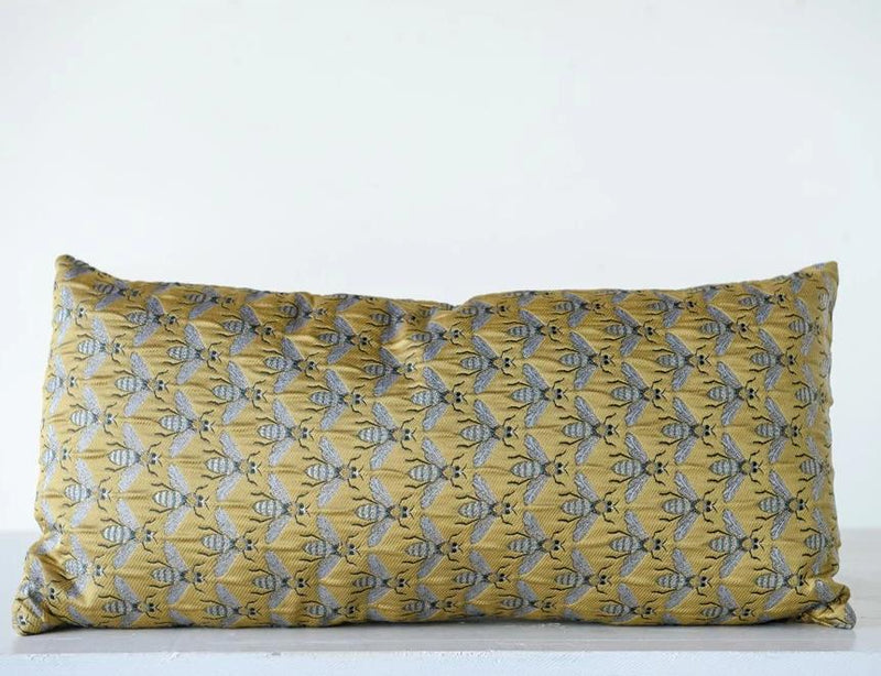 Fabric Pillow w/ Bees