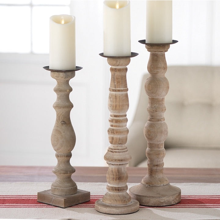Rustic Candle Holders - E.T. Tobey Company