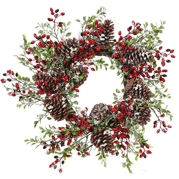 Snowy Mixed Wreath