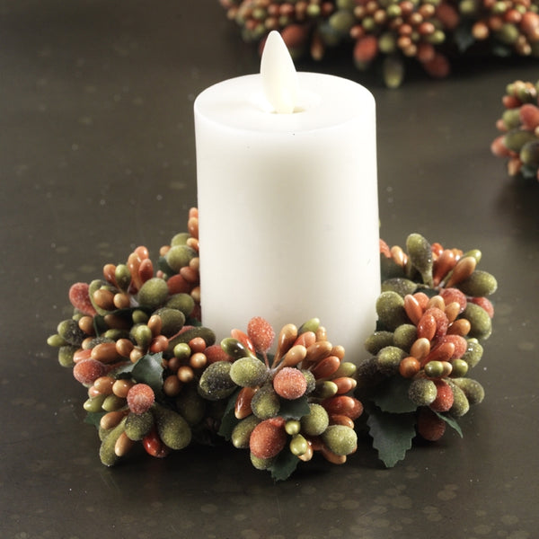 Beaded Berry Candle Ring