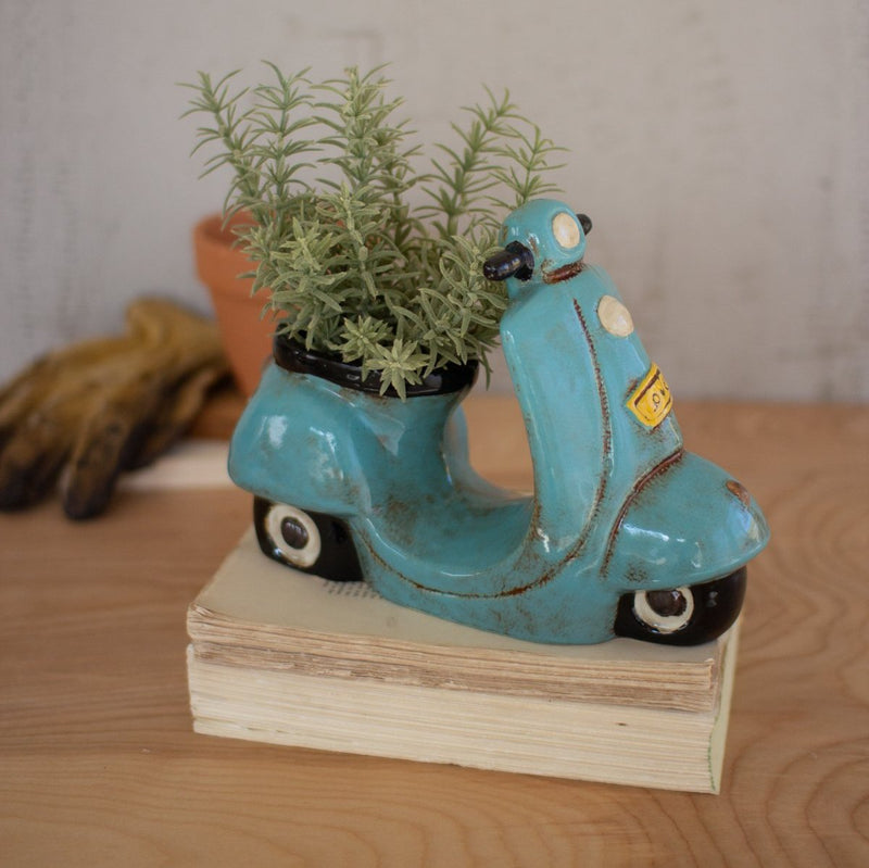Ceramic Moped Planter