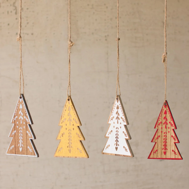 Wooden Tree Christmas Ornaments - E.T. Tobey Company