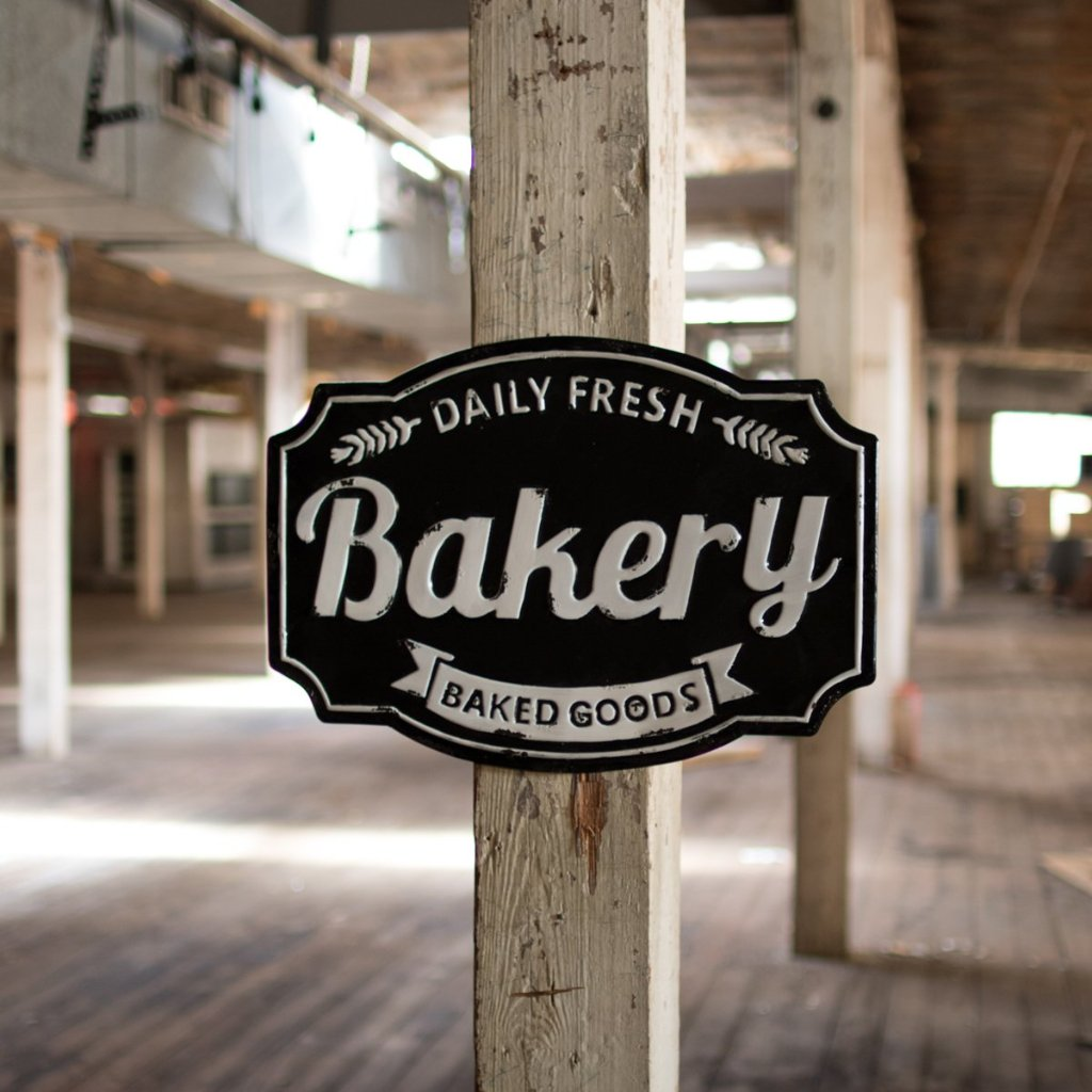 Enamelware Bakery Sign