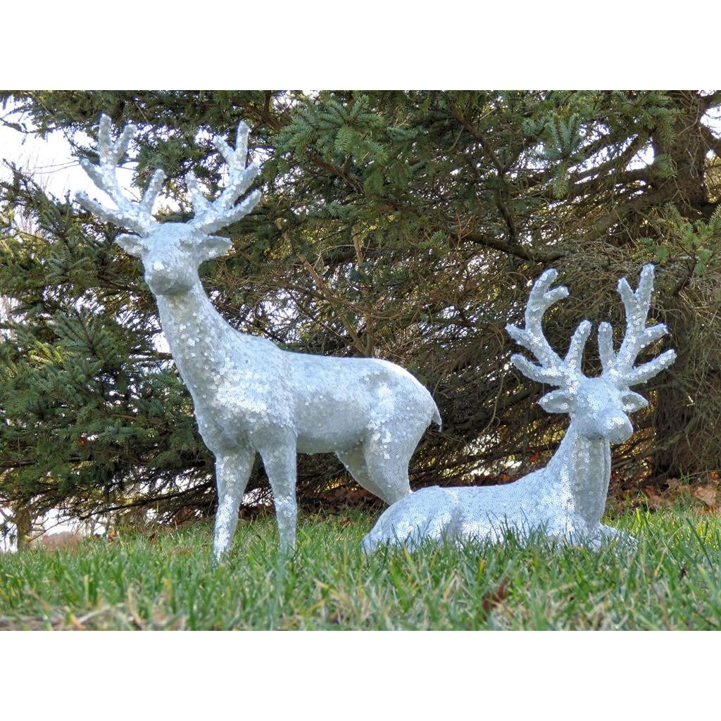 Silver Sequin Deer - E.T. Tobey Company