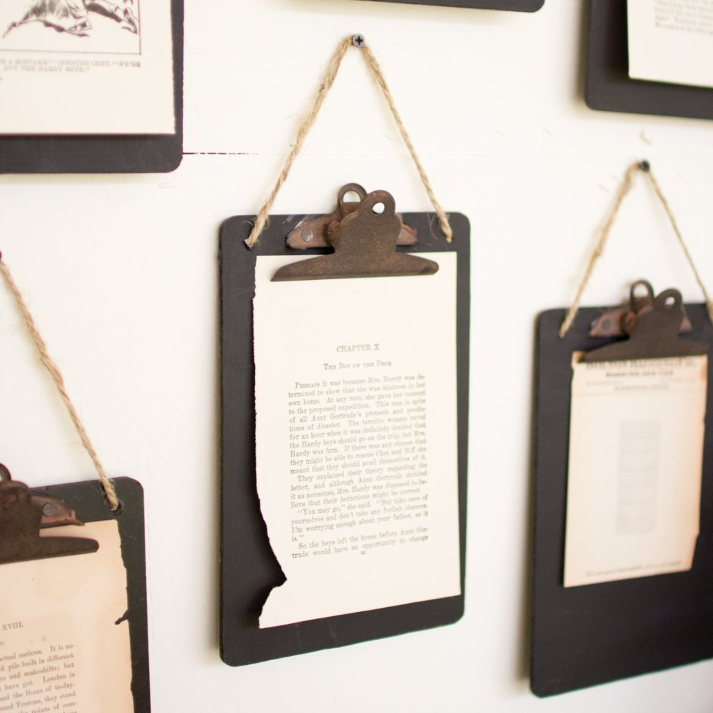 Black Clip Board Photo & Notes Holder