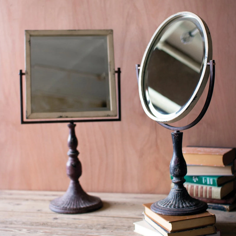 Iron Mirror On A Stand - E.T. Tobey Company