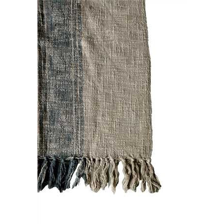 Cotton Throw w/ Stripes & Fringe - E.T. Tobey Company