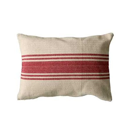 Cotton Canvas Pillow w/ stripes - home decor - pillow