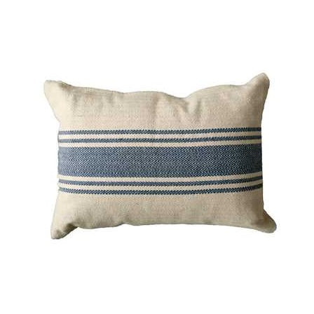 Cotton Canvas Pillow w/ Stripes - E.T. Tobey Company