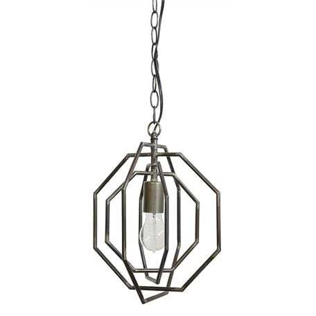 Metal Octagon Shaped Pendant Lamp - E.T. Tobey Company