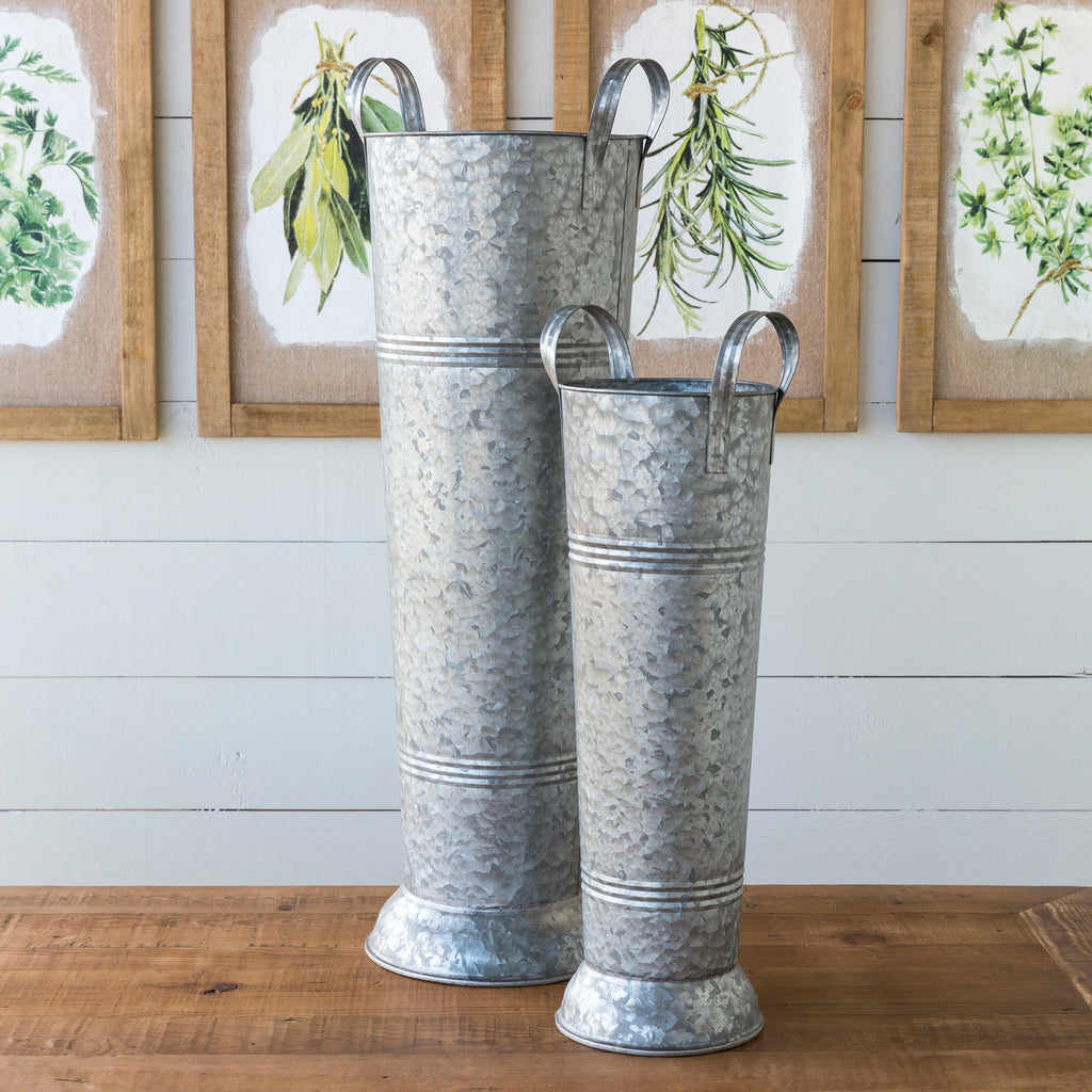 Old Fashioned Tall Display Buckets - park hill collection