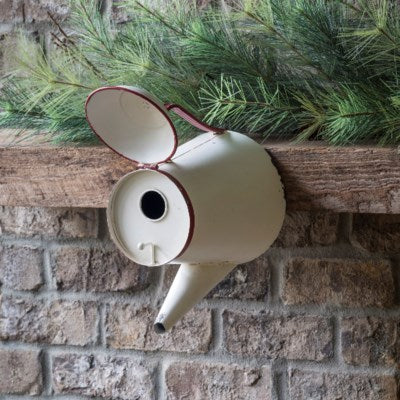 Painted Coffee Pot Bird House