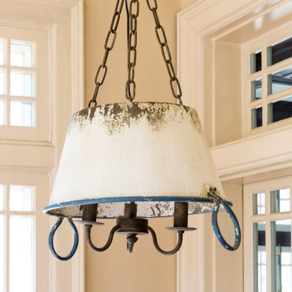 Soup Pot Pendant Light Fixture - vintage lighting