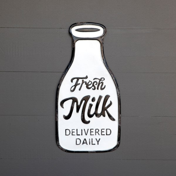 Fresh Milk Bottle Sign
