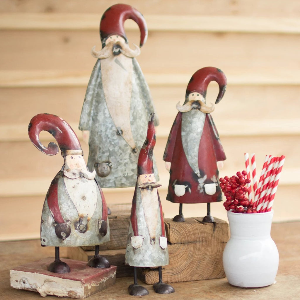 Galvanized & Painted Santa