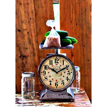 Grocery Scale Clock - E.T. Tobey Company