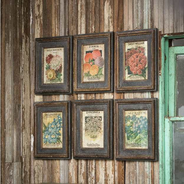 Flower Seed Packet Prints - E.T. Tobey Company - farmhouse prints