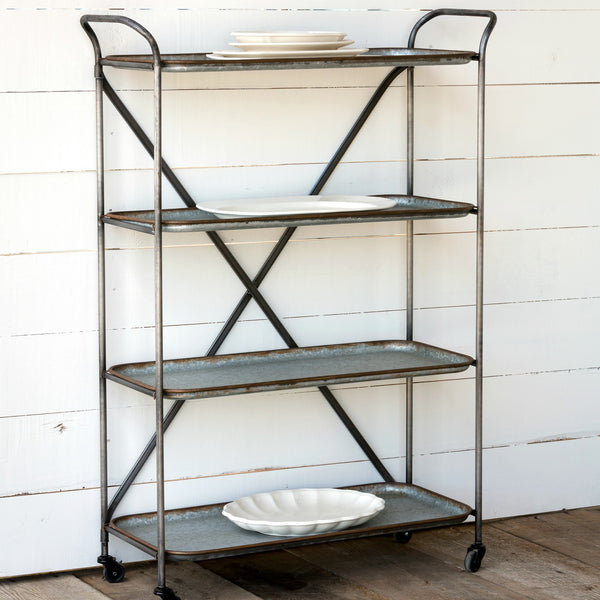 Metal Bakery Bar Cart - Fixer Upper Style - ET Tobey & Company