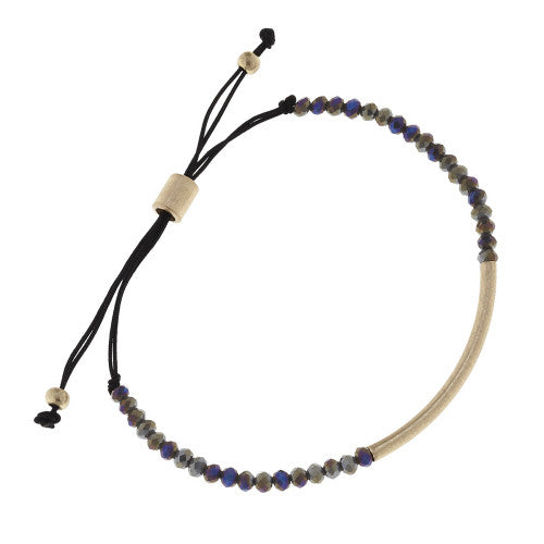 Beaded Glass Bolo Bracelet - E.T. Tobey Company