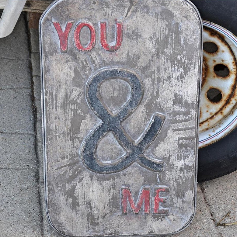 Metal You & Me Sign - E.T. Tobey Company - Vintage Metal Sign