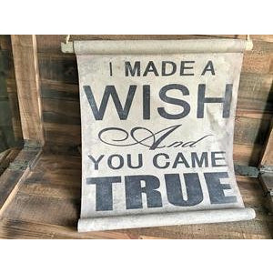 Wish Cloth Decor Banner - E.T. Tobey Company