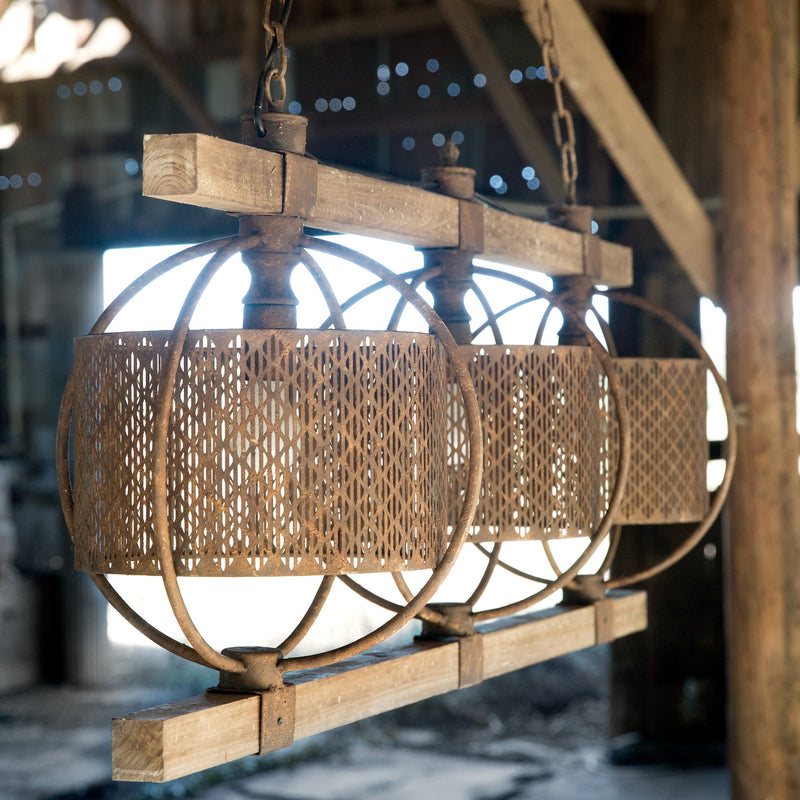 steakhouse light fixture - farmhouse industrial
