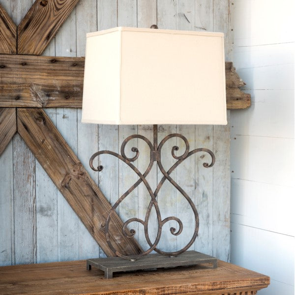 Artisan Metalwork Lamp