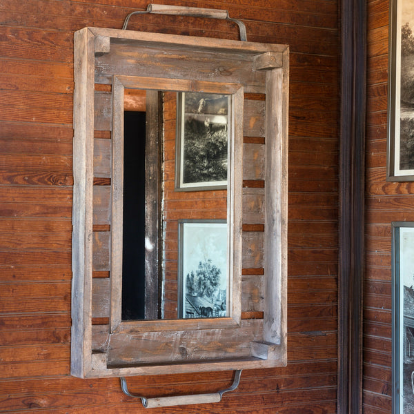 LW7007 - repurposed produce mirror - farmhouse style